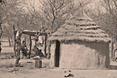 Scene of Otjikandero Himba Orphan Village Royalty Free Stock Photography