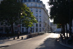 Scene of Paris buiding and street Royalty Free Stock Image