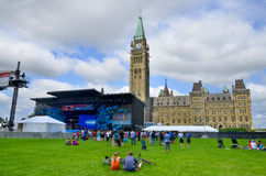 Scene on Parliament Hill Royalty Free Stock Image