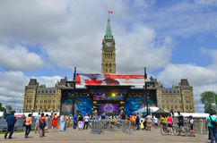 Scene on Parliament Hill Royalty Free Stock Photography