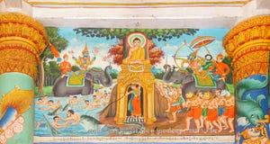 Scene a partire dalla vita di Buddha fotografie stock