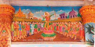 Scene a partire dalla vita di Buddha Fotografia Stock