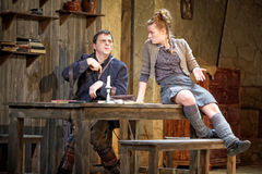 Scene from performance The Cripple from Inishmaan Stock Photos