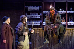 Scene from play The Cripple from Inishmaan Stock Images
