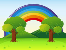 Scene with rainbow in the park Stock Images