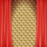 The scene with the red curtain Royalty Free Stock Image