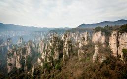 Scene of rock mountain in Zhangjiajie National Forest Park,Hunan Royalty Free Stock Image