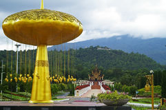 The scene in Royal flora garden, Chiang Mai, Thailand Royalty Free Stock Photography