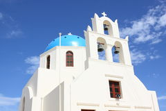 Scene in Santorini in Greece Stock Image