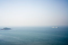 A scene of sea around Qingdao Royalty Free Stock Photography