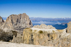 Scene Sella group, Dolomites Italy Stock Photography