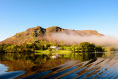 Scene showing the beauty of Ullswater lake ,England royalty free stock photos