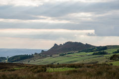 Scene showing the Ramshire Rocks, near Leek, Staffordshire Stock Photos