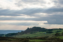 Scene showing the Ramshire Rocks, near Leek, Staffordshire Royalty Free Stock Image