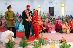 Scene at a Sikh Wedding. The bride and groom at a sikh wedding in Malaysia Royalty Free Stock Photo