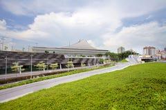 Scene of Singapore National Stadium. SINGAPORE - MAY 25, 2015: Scene of Singapore National Stadium. Singapore National Stadium is a 55,000 seats multi-purpose Stock Image