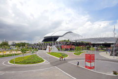 Scene of Singapore National Stadium. SINGAPORE - MAY 25, 2015: Scene of Singapore National Stadium. Singapore National Stadium is a 55,000 seats multi-purpose Royalty Free Stock Images
