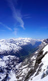 Scene of snow mountains valley Titlis Stock Photography
