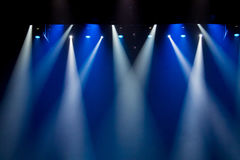 Scene, stage light with colored spotlights Stock Images