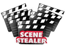 Scene Stealer Red 3d Words Movie Clappers Great Performance Stock Photography