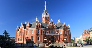 Scene of the Stratford City Hall in Canada 4K. A Scene of the Stratford City Hall in Canada 4K stock footage