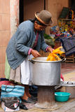 Scene from the street in Bolivian city Stock Image
