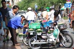 Scene at street near Ben Thanh Market in Saigon, Vietnam Stock Images