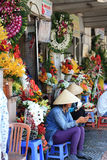 Scene at street near Ben Thanh Market in Saigon, Vietnam Stock Photography