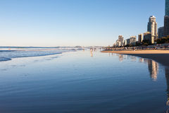Scene of the Surfers Paradise beach Stock Photo