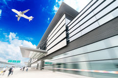 The scene of T3 airport building Stock Photos