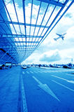 the scene of T3 airport building in beijing china. Stock Photos