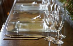 Tableware on the table Royalty Free Stock Image