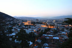 Scene of Tbilisi  from Mtatsminda hill Stock Photo