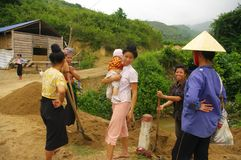 Scene in the Thai countryside stock photography