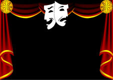 Scene theatre with curtain Vector Illustration
