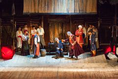 Scene from the theatrical play of the musical Vij Royalty Free Stock Images