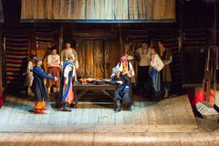 Scene from the theatrical play of the musical Vij Stock Image