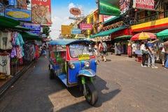 Scene of tourist in Khao San road stock image