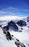 Scene of Valley Titlis snow mountains Stock Photography
