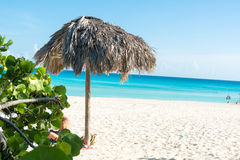 Scene of Varadero Beach in Cuba Stock Image