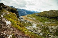 Scene variopinte della montagna in Norvegia Bello paesaggio della Norvegia, Scandinavia Paesaggio della montagna della Norvegia Immagine Stock Libera da Diritti