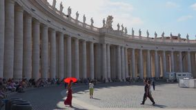 Scene of Vatican City in Rome. Views from around the ancient Italian city of Rome stock footage