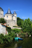 Scene at Verteuil-Sur-Charente. France, on the River Charente stock image