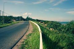 Scene, Viet Nam, coastal, beach, road, Lagi Stock Photo