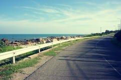 Scene, Viet Nam, coastal, beach, road, Lagi Royalty Free Stock Photo