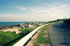 Scene, Viet Nam, coastal, beach, road, Lagi Stock Image