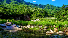Scene of a village. A at the scene of a village in northern Chinese Royalty Free Stock Photos