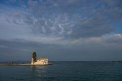 Scene of Vlacherna monastery, Kanoni, Corfu Royalty Free Stock Image
