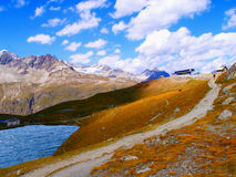 The lake in the mountains Stock Photography