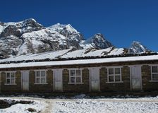 Scene on the way to the Thorung La mountain pass. Stock Photography